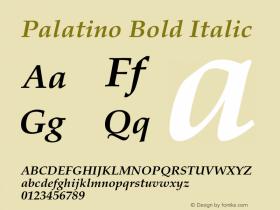 Palatino-BoldItalic 001.005图片样张