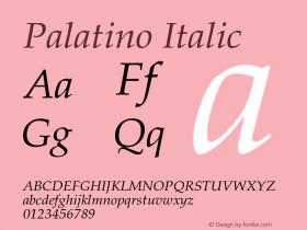 Palatino-Italic 001.005图片样张