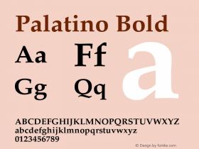 Palatino Bold Version 2.02图片样张