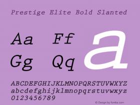 PrestigeElite-BoldSlanted 001.001图片样张