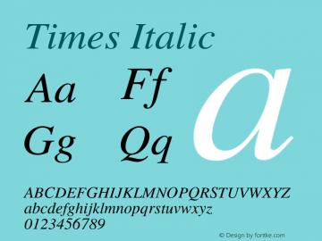 Times-Italic 001.007图片样张