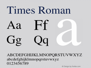 Times-Roman 001.007图片样张