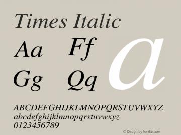 Times Italic Version 2.03图片样张