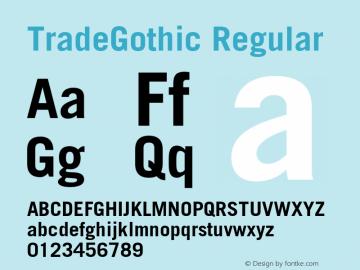 TradeGothic-Bold 001.001图片样张
