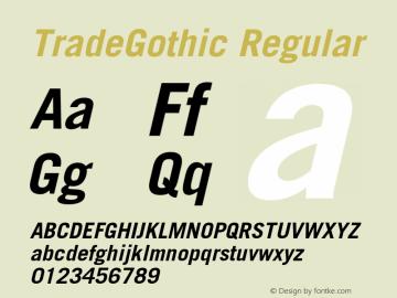 TradeGothic-BoldOblique 001.001图片样张