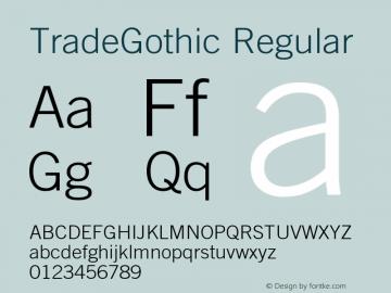 TradeGothic-Light 001.001图片样张
