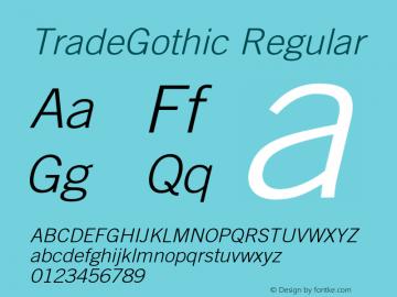 TradeGothic-LightOblique 001.001图片样张