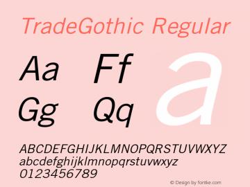 TradeGothic-Oblique 001.001图片样张
