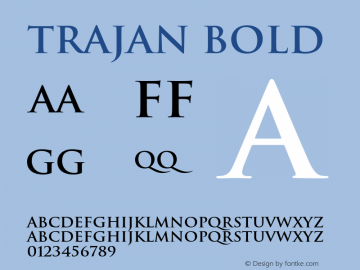 Trajan-Bold 001.000图片样张