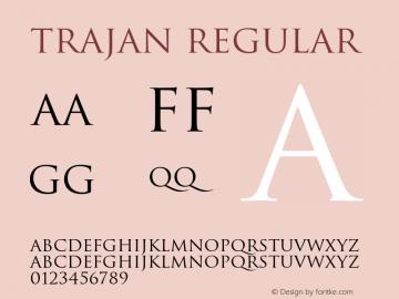 Trajan-Regular 001.000图片样张