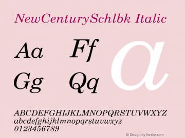 NewCenturySchlbk Italic V 2.0 17: 23731图片样张