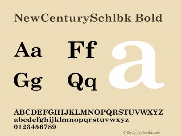 NewCenturySchlbk Bold 17: 23732图片样张