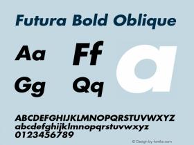 Futura-BoldOblique 001.001图片样张