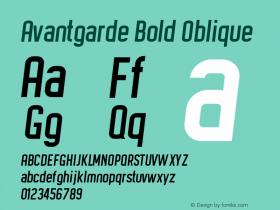 Avantgarde Bold Oblique Version 1.002;Fontself Maker 3.3.0图片样张