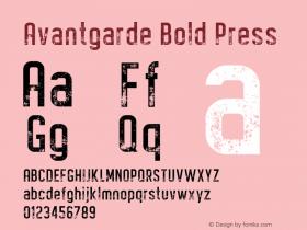 Avantgarde Bold Press Version 1.002;Fontself Maker 3.3.0图片样张