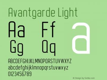 Avantgarde Light Version 1.002;Fontself Maker 3.3.0图片样张