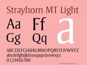 Strayhorn MT Light 001.001 Font Sample