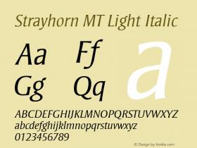Strayhorn MT Light Italic 001.001 Font Sample
