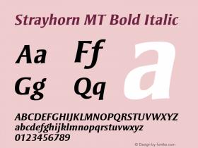 Strayhorn MT Bold Italic 001.001 Font Sample