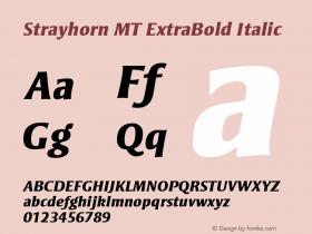 Strayhorn MT ExtraBold Italic 001.001 Font Sample