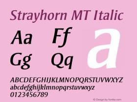 Strayhorn MT Italic 001.001 Font Sample