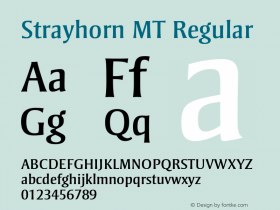 Strayhorn MT Regular 001.002 Font Sample