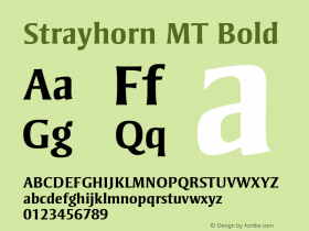 Strayhorn MT Bold 001.002 Font Sample