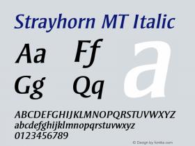 Strayhorn MT Italic 001.002 Font Sample