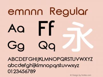emnnn Version 1.10;May 28, 2020;FontCreator 11.5.0.2427 64-bit图片样张