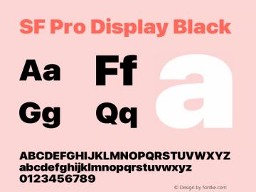 SF Pro Display Black Version 16.0d9e1图片样张