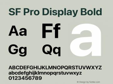 SF Pro Display Bold Version 16.0d9e1图片样张