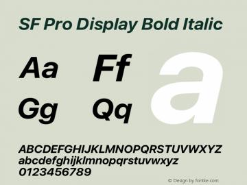 SF Pro Display Bold Italic Version 16.0d9e1图片样张