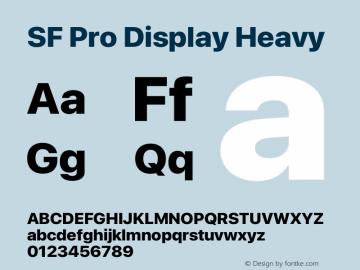 SF Pro Display Heavy Version 16.0d9e1图片样张