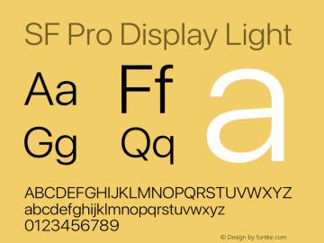 SF Pro Display Light Version 16.0d9e1图片样张