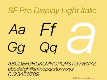 SF Pro Display Light Italic Version 16.0d9e1图片样张