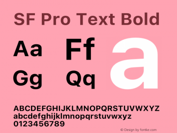 SF Pro Text Bold Version 16.0d9e1图片样张