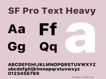 SF Pro Text Heavy Version 16.0d9e1图片样张