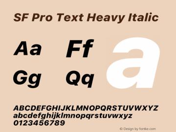 SF Pro Text Heavy Italic Version 16.0d9e1图片样张