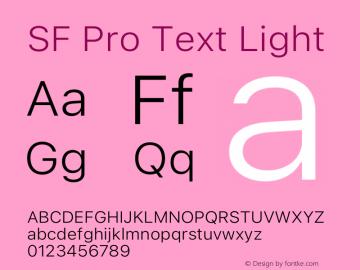 SF Pro Text Light Version 16.0d9e1图片样张