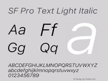 SF Pro Text Light Italic Version 16.0d9e1图片样张