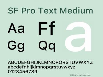 SF Pro Text Medium Version 16.0d9e1图片样张