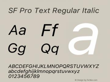 SF Pro Text Regular Italic Version 16.0d9e1图片样张