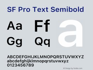 SF Pro Text Semibold Version 16.0d9e1图片样张