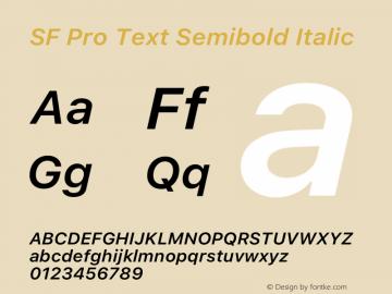 SF Pro Text Semibold Italic Version 16.0d9e1图片样张