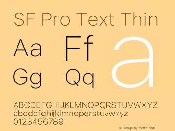 SF Pro Text Thin Version 16.0d9e1图片样张