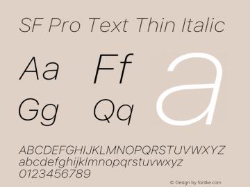 SF Pro Text Thin Italic Version 16.0d9e1图片样张