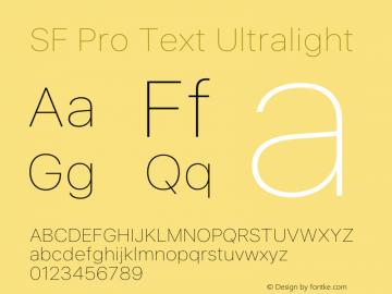 SF Pro Text Ultralight Version 16.0d9e1图片样张