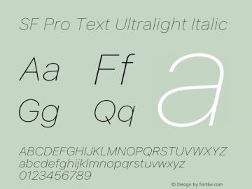 SF Pro Text Ultralight Italic Version 16.0d9e1图片样张