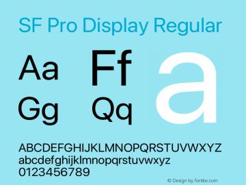 SF Pro Display Regular Version 16.0d9e1图片样张
