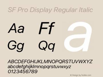 SF Pro Display Regular Italic Version 16.0d9e1图片样张